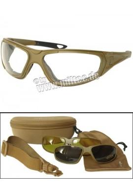 Taktické brýle 3v1 coyote