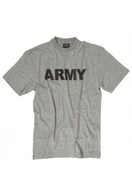 Tričko s potiskem Army šedé S-XXL