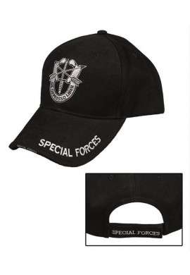 "Černá kšiltovka ""Special Forces"""