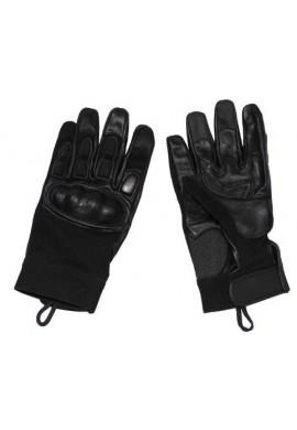 Taktické kožené rukavice s neoprenem