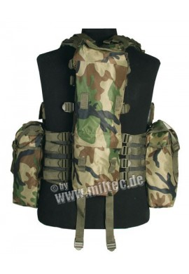 Taktická vesta 12 kapes woodland