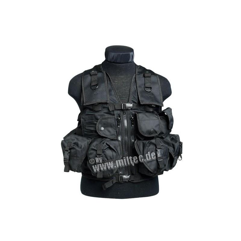 Taktická vesta 9 kapes černá