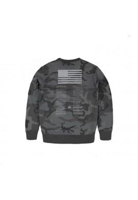 Mikina Blood Chit Print Sweater, Alpha Industries