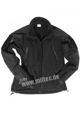 SOFTSHELL bunda MIL-TEC PLUS SCHW. S-3XL