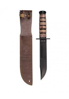 Nůž bojový USMC s koženým pouzdrem