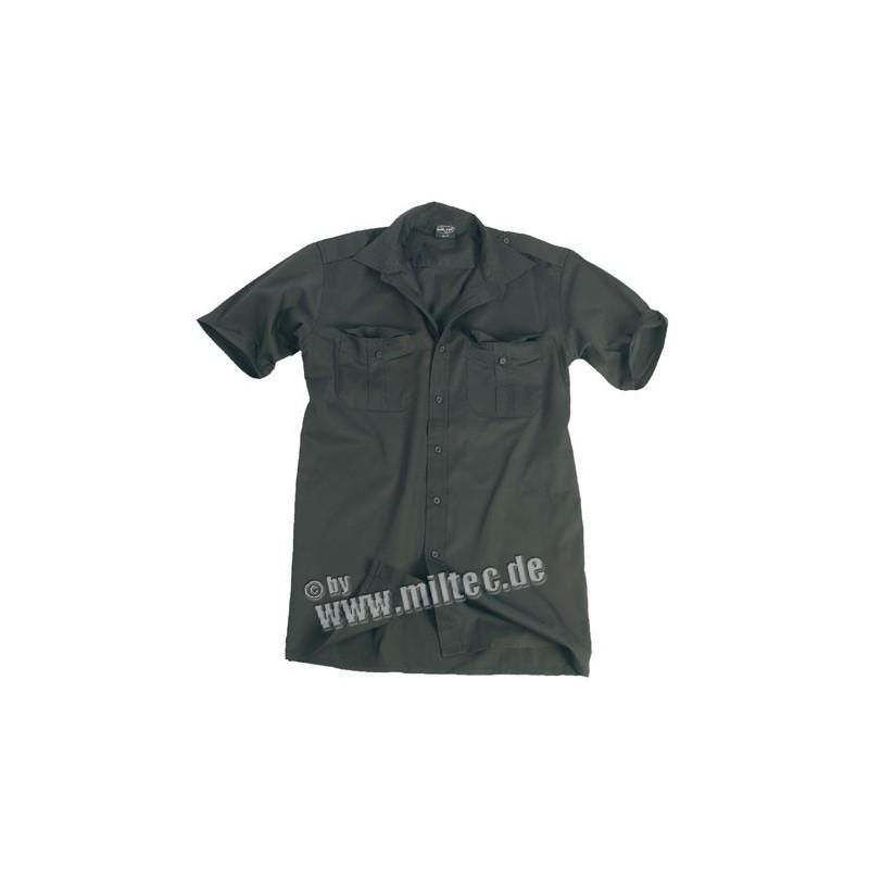 Služební košile krátký rukáv černá S-XXL