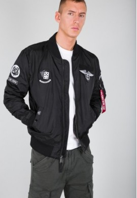 Bunda MA-1 TT Patch SF_black_ Alpha Industries