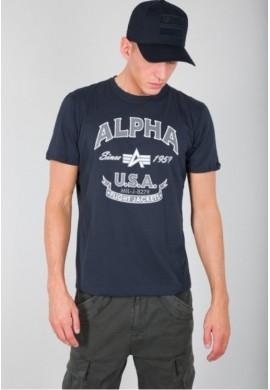 Tričko Alpha FJ T new navy Alpha Industries