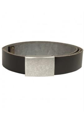 BW kalhotový opasek kožený černý 100-130