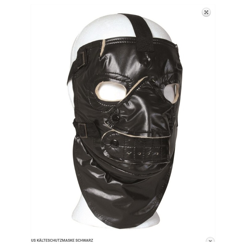 US maska proti mrazu černá
