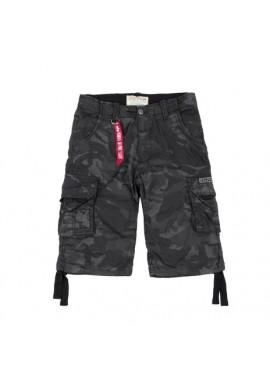 Kraťasy Jet Shorts Alpha Industries Black camo