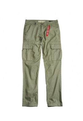 Kalhoty AGENT Alpha Industries, Olive