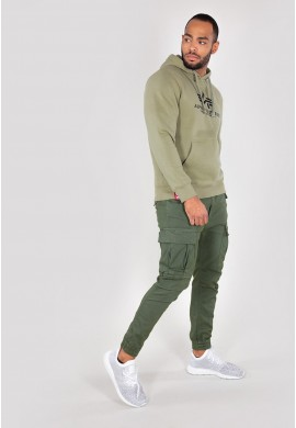 Mikina BASIC HOODY Alpha Industries, OLIVE