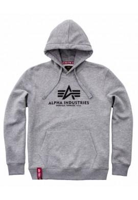 Mikina BASIC HOODY Alpha Industries, grey heather