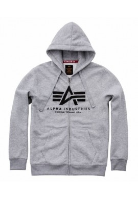Mikina BASIC ZIP HOODY Alpha Industries GREY HEATHER