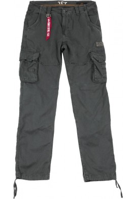Kalhoty JET PANT Alpha Industries, GREYBLACK