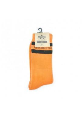 Ponožky STRIPE Alpha Industries, Flame Orange