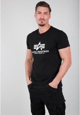 Tričko BASIC T Alpha Industries, BLACK