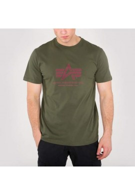 Tričko BASIC T Alpha Industries, DARK GREEN