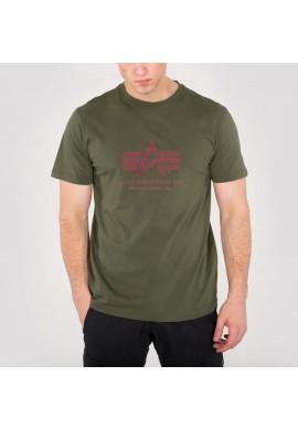 Tričko BASIC T Alpha Industries, DARK GREEN