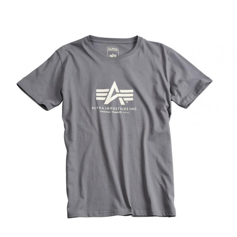 Tričko BASIC T Alpha Industries, GREYBLACK