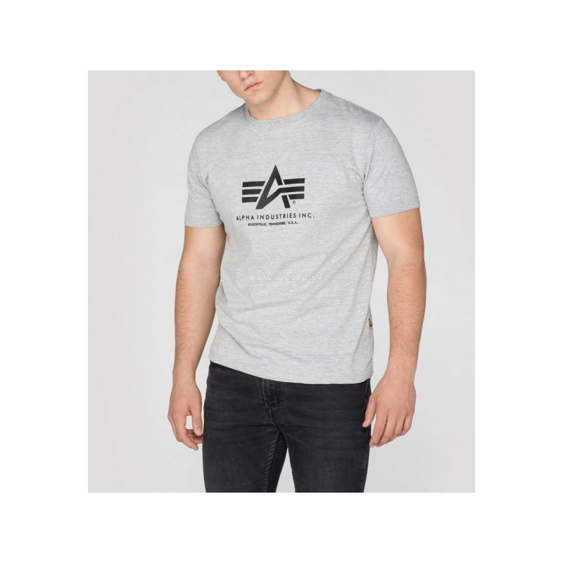 Tričko BASIC T Alpha Industries, GREYHEATHER