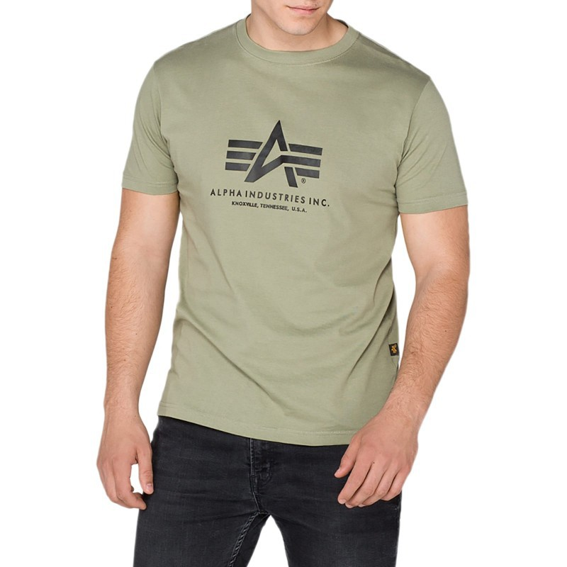 Tričko BASIC T Alpha Industries, OLIVE