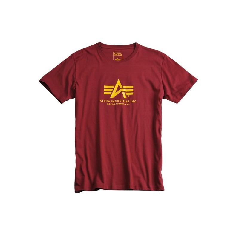 Tričko BASIC T Alpha Industries, BURGUNDY