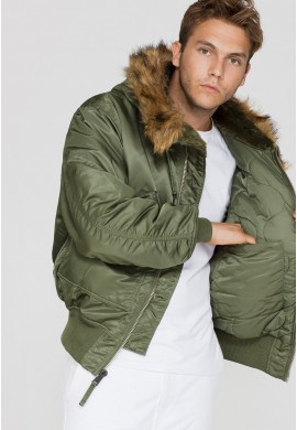 Bunda 45P HOODED Alpha Industries SAGE GREEN