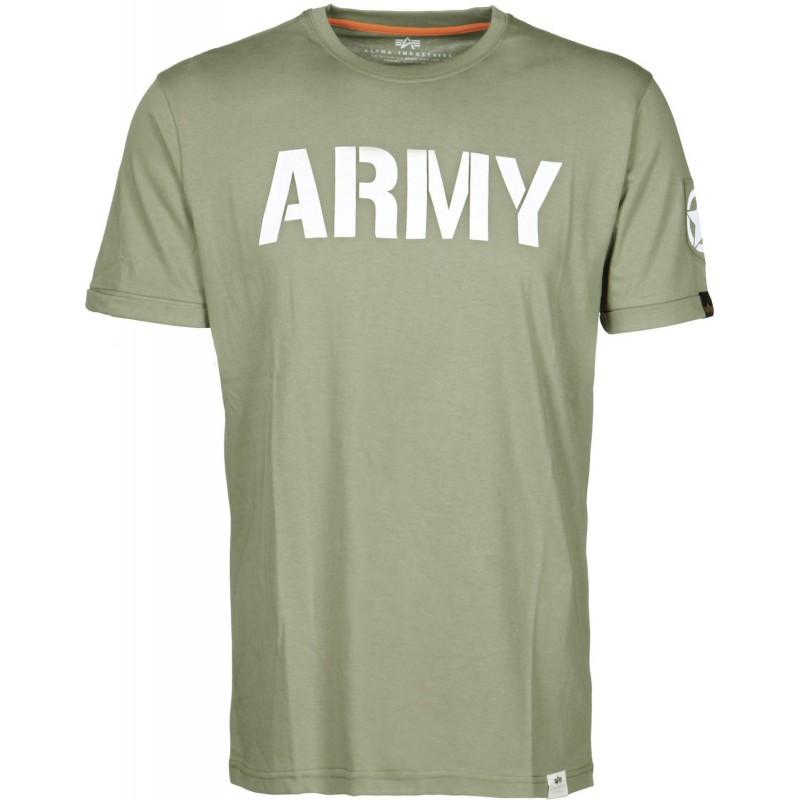 Tričko ARMY T Alpha Industries OLIVE
