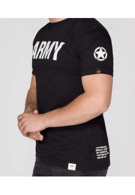 Tričko ARMY T Alpha Industries BLACK