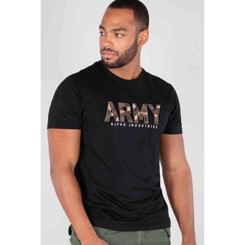 Tričko ARMY CAMO T Alpha Industries BLACK