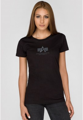 Dámské tričko BASIC T Wmn. Alpha Industries AIR BLUE