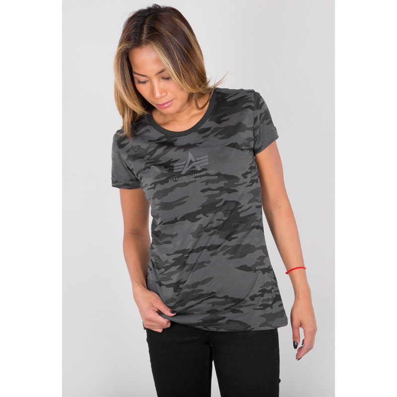 Dámské tričko BASIC T Wmn. Alpha Industries BLACK CAMO