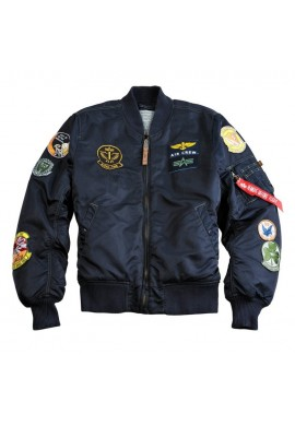 Bunda MA-1 PILOT Alpha Industries REPL.BLUE OVD.
