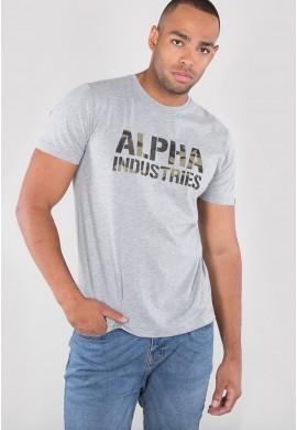 Tričko CAMO PRINT T Alpha Industries BLACK/WHITE