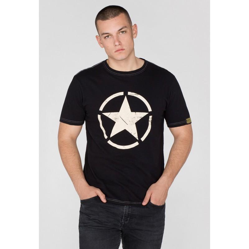 Tričko STAR T Alpha Industries BLACK