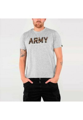 Tričko ARMY CAMO T Alpha Industries GREY HEATHER