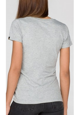 Dámské tričko NEW BASIC T Wmn Alpha Indst. GREYHEATHER/WHITE