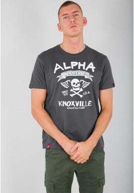 Tričko SKULL T Alpha Industries GREYBLACK