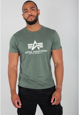 Tričko BASIC T Alpha Industries VINTAGE GREEN