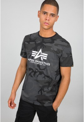Tričko BASIC T Alpha Industries BLACK CAMO