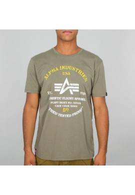 Tričko AUTHENTIC PRINT T Alpha Industries OLIVE