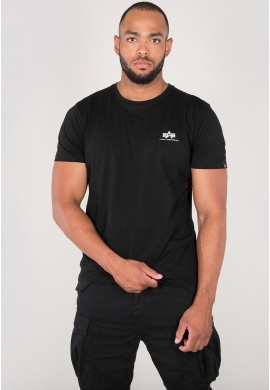 Tričko BASIC T SMALL LOGO Alpha Indst. BLACK