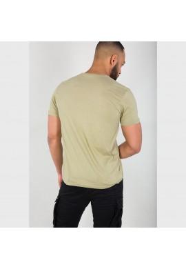 Tričko BASIC T SMALL LOGO Alpha Indst. LIGHT OLIVE