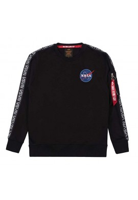 Mikina NASA TAPE SWEATER NS Alpha Industries BLACK