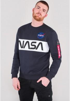 Mikina NASA INLAY SWEATER Alpha Industries REPL.BLUE