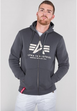 Mikina BASIC ZIP HOODY Alpha Industries GREYBLACK