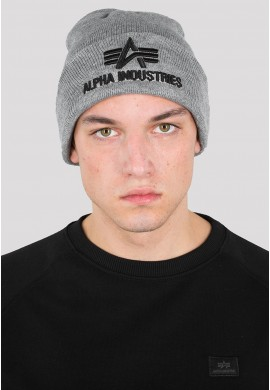 Čepice 3D BEANIE Alpha Industries, GREY HEATHER