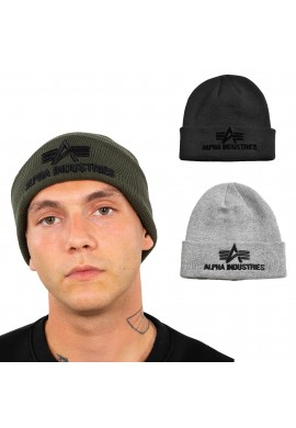 čepice 3D Beanie Alpha Industries Dark Green